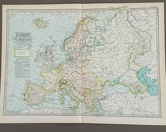 Europe Map,Map of Europe,England Norway Iceland France Spain Finland Russia Italy Turkey France Spain,Places on the World Map,1900 10x15
