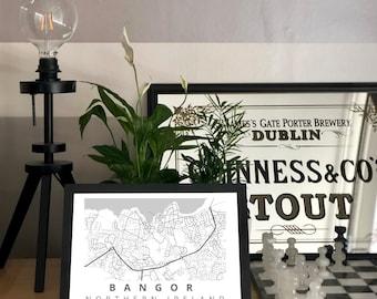 Bangor Map Print