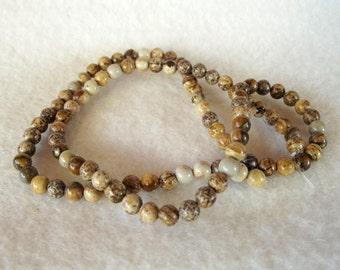 "15"" Strand of 4mm Natural and Naturally Beautiful Round Brown Jasper Beads"