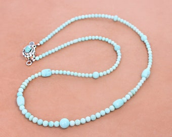 "TURQUOISE NECKLACE White Creek 18"" NewWorldGems"