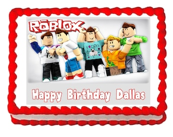 Roblox party decoration edible cake image cake topper frosting sheet