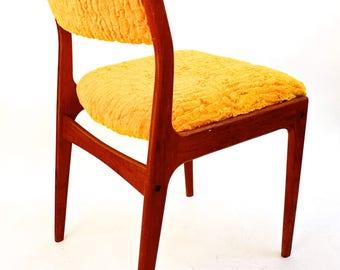 Mid-Century Danish Teak & Mustard Yellow Upholstery Desk Chair | Occasional Seating
