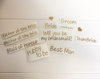 Wedding Stickers Vinyl Quote Saver Bundle - Gold