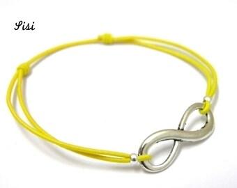 Bracelet yellow infinity