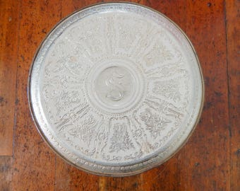 Vintage White and Gold Tin with Lid