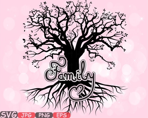Family Svg Word Art Family Quote Clip Art Silhouettenches Family Is Love Deep Roots Life Begins Png Jpg Eps Family Love S