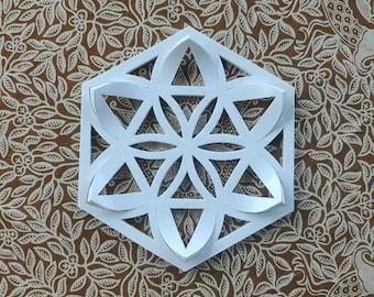 White ceramic flower mandala