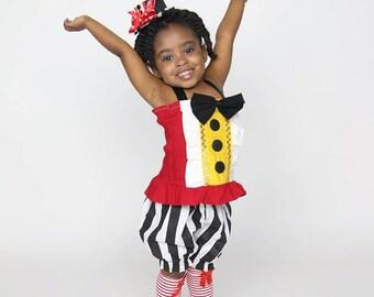 Lion Tamer, Circus Ringmaster tutu and top costume, carnival tutu, circus outfit