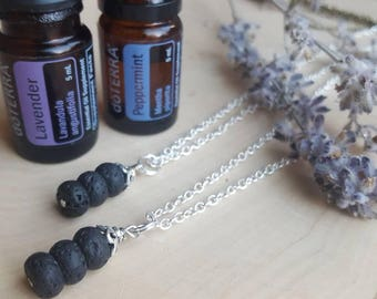 Diffuser Necklace, Diffuser Jewelry, Essential Oil Necklace, Lava Stone Jewelry, Lava Stone Diffuser Necklace, Aromatherapy Necklace