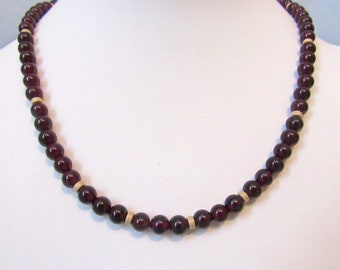 Classic Garnet and Gold Necklace