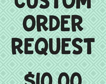Personalized T-shirt Hoodie or Mug Order Request