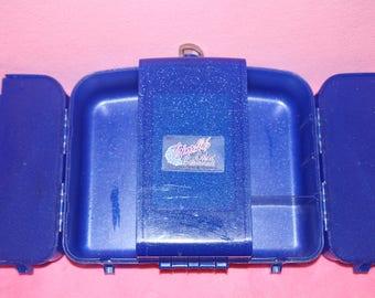 Vintage 1980s color collision caboodle makeup case