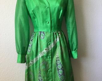 1970s Alfred Shaheen dress