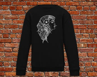 Gipsy sweater, gipsy tattoo, gipsy woman sweater, tattoo sweater, classic tattoo art, old school sweater, hipster gift, gift tattoo lover