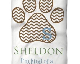 Dog Blanket Personalized with Name Monogram You Choose Colors for your Pet Soft Washable Fleece Fabric in Two Sizes