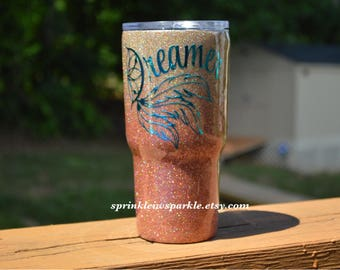 Holographic Rose Gold Ombre Yeti/Rose Gold Glitter Yeti/Glitter Yeti/Glitter Ozark/Glitter Rtic/ Rose Gold Yeti/Rose Gold/Glitter tumbler