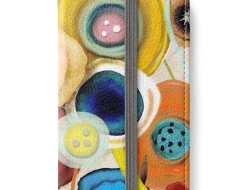 iPhone Wallet - Boutonniere Bridal Bouquet Inspiration