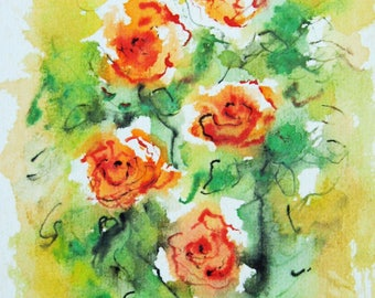Flower Painting Art Print, Flower,Watercolor Painting, Birthday Gift, Gift Idea, Gift for her, Wall Decor
