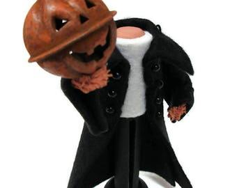 Headless Horseman Ornament, Clothespin Ornament, Sleepy Hollow, Halloween Decor, Peg Doll, Halloween Ornament