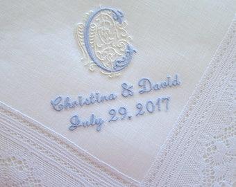 Wedding Hankerchiefs, Wedding Hankies, Handkerchiefs, Handkerchief for the Bride, hankerchiefs, Bride hankerchiefs, mother of bride