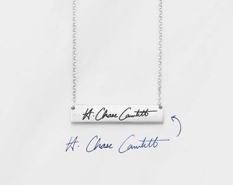 Signature Jewelry • Personalized Signature Necklace • Handwritten Necklace • Custom Signature Gift Sterling Silver • CHN08