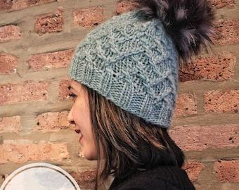 Knitting pattern only   Twist it baby beanie   knit pattern   Hat Pattern   knit