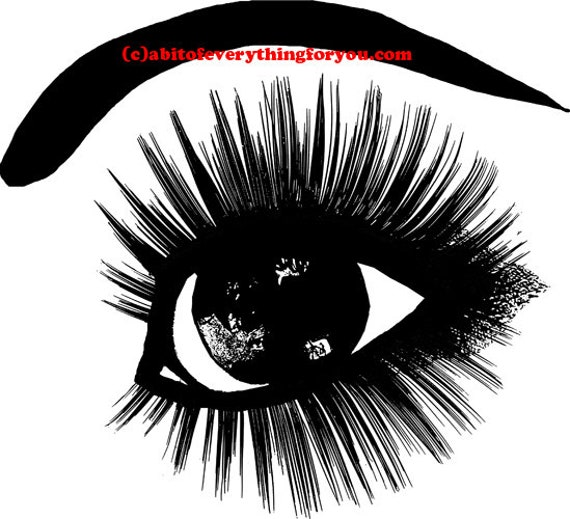 womans eye long lashes printable makeup art clipart png jpg downloadable digital image graphics beauty cosmetics digital art prints
