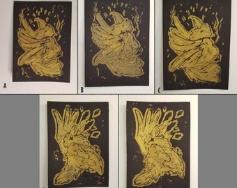 Golden Crow Prints