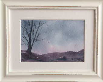 Storm Brewing, Framed Original Watercolour Painting