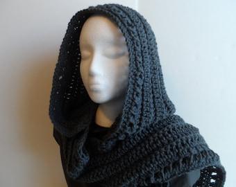 Crochet Hood Pattern, hooded scarf pattern, PDF instant digital download, crochet scoodie pattern