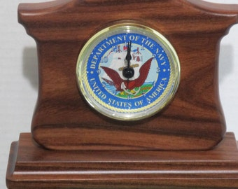 Military recognition clocks - Ready to Ship -  Classy style - Choice of Army - Marine Corp - Navy - Air Force - Coast Guard -Your Choice -