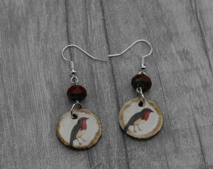 Robin Bird Statement Earrings, Animal Jewelry
