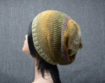 knit hat woman, slouchy beanie, womens gift, slouchy hat, knitting hat, warm beanie, winter hat, chunky knit, Gift Idea, Wool Slouchy Hat