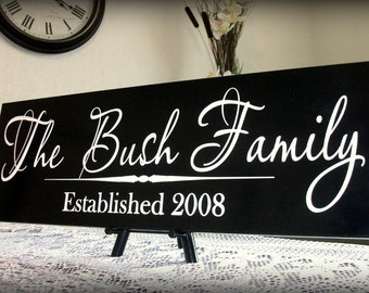 Personalized Family Name Sign Plaque Last Name Sign Carved Engraved Wall Sign Established Sign