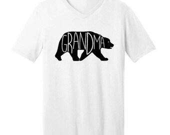 ON SALE - Grandma Bear  - Men's V-neck