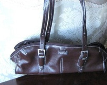 Kenneth Cole  Step Forward Small  Handbag  BROWN  1990s
