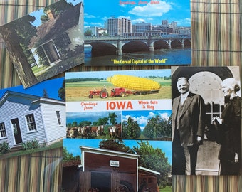 Vintage Postcards - Iowa -Lot of 6