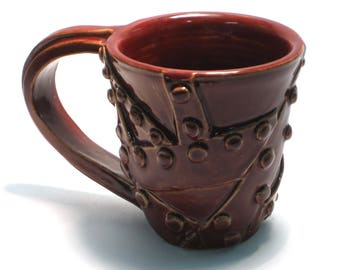 Steampunk mug, hardware, cup, coffee, tea, nuts, bolts, metal, industrial