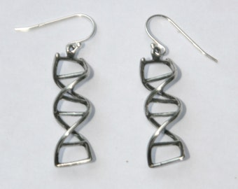 Sterling Silver DNA earrings