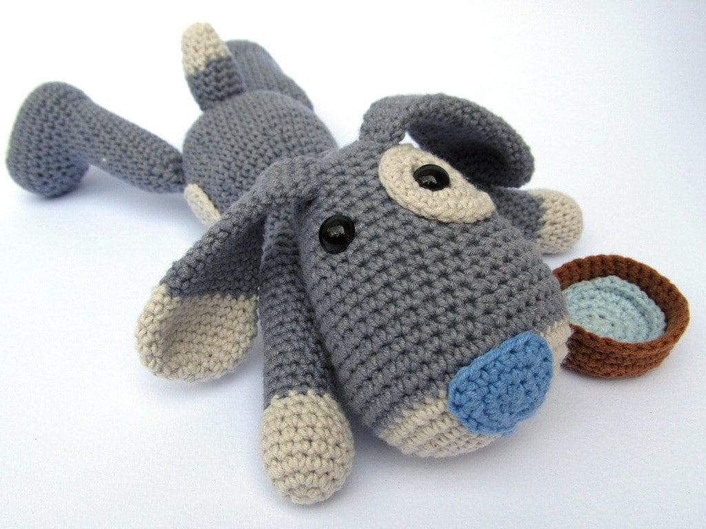 Amigurumi Tutorial Animali : Puppy hafi amigurumi crochet pattern pdf e book stuffed