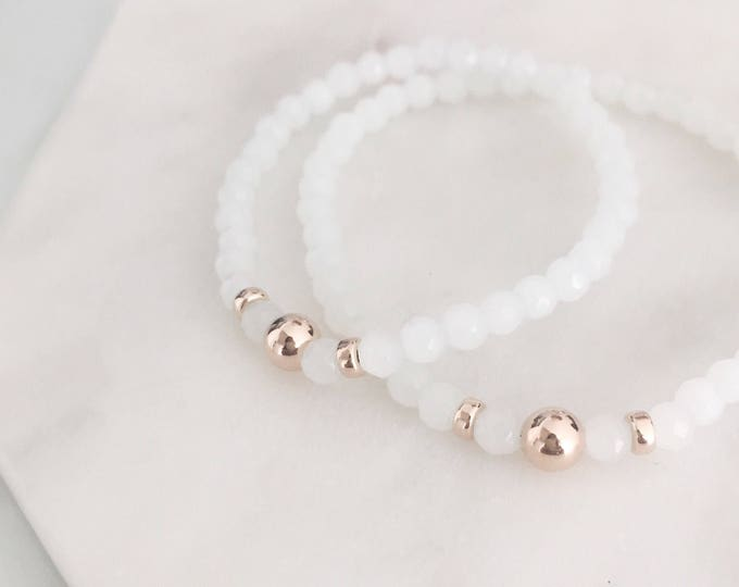 Small White Stretch Bracelet