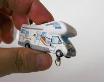 Camper Portachiavi Phonestrap in miniatura personalizzato idea regalo per camperisti camping car motorhome fatto a mano uguale al tuo !