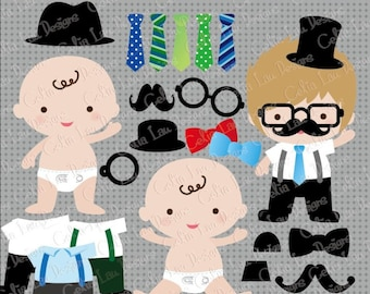 Little man birthday,Little man party,Little Man baby shower, Mustache clipart, photo booth props(CG070)