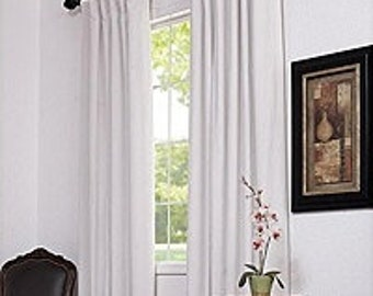 CUSTOM CURTAINS - One Pair of Bordeaux drapery panels