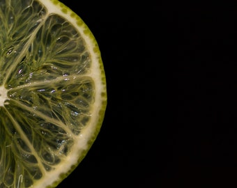 Square 10x10 Photography Print or Canvas - Wall Art Decor - Citrus Lime Slice