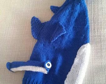 Hammer head shark stocking cap.
