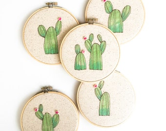 Hostess Gift, Succulent Wall Hanging, Housewarming Gift Ideas, Cactus, Succulent Art, Embroidery Hoop Decor, Home Decor