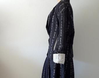 1980s Avant Garde Italian Suit / skirt and jacket / heathers
