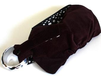 Ox Blood Bracelet Handbag Wristlet