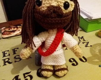 crochet messiah jc jesus christ handmade buddy christ unusual gift idea